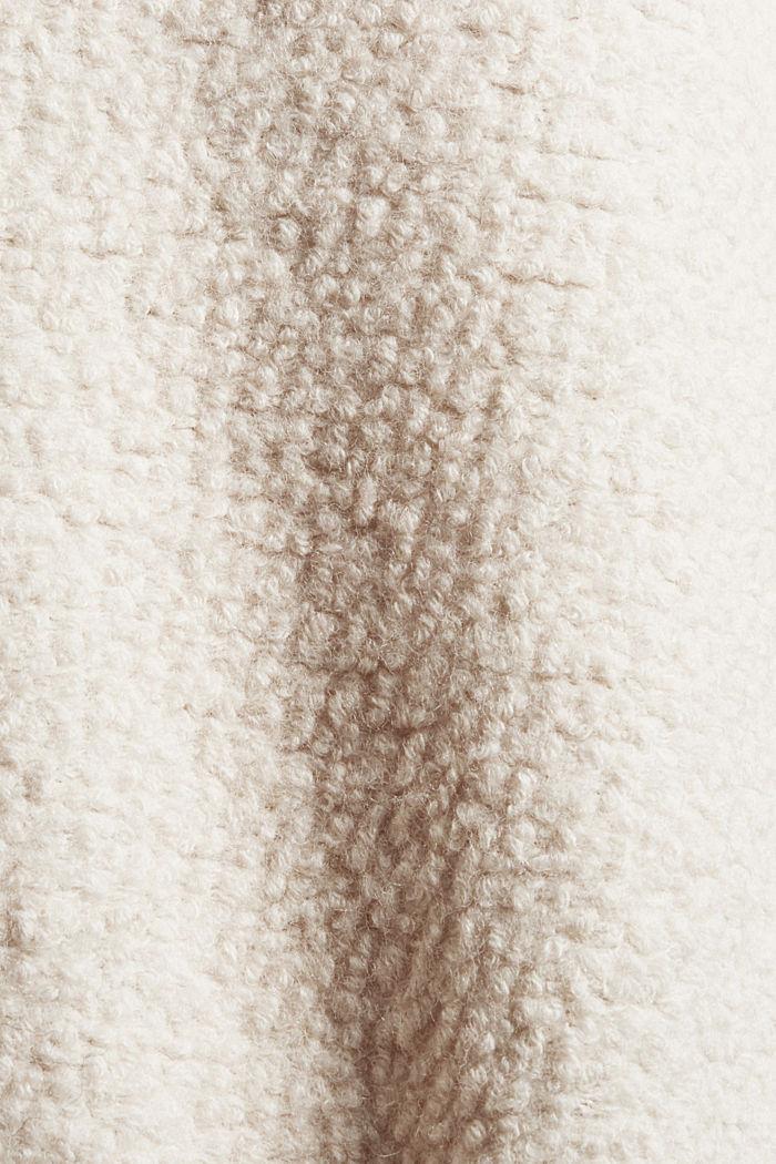 À teneur en laine: la veste en maille bouclette à col droit, ICE, detail image number 4