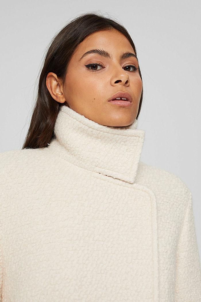 À teneur en laine: la veste en maille bouclette à col droit, ICE, detail image number 5