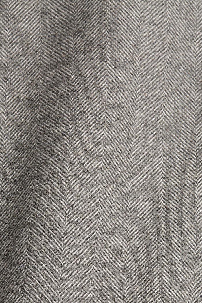 Mit Wolle: Blazer mit Fischgrätmuster, ANTHRACITE, detail image number 4