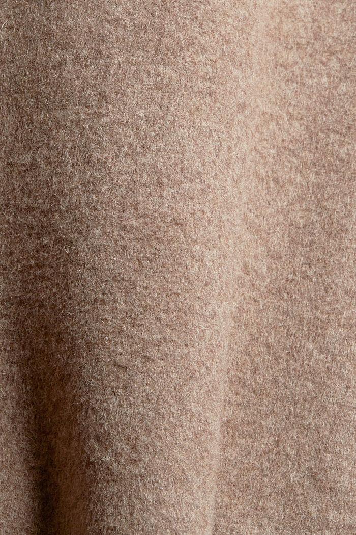 Mit Wolle: Shacket in melierter Optik, LIGHT TAUPE, detail image number 4