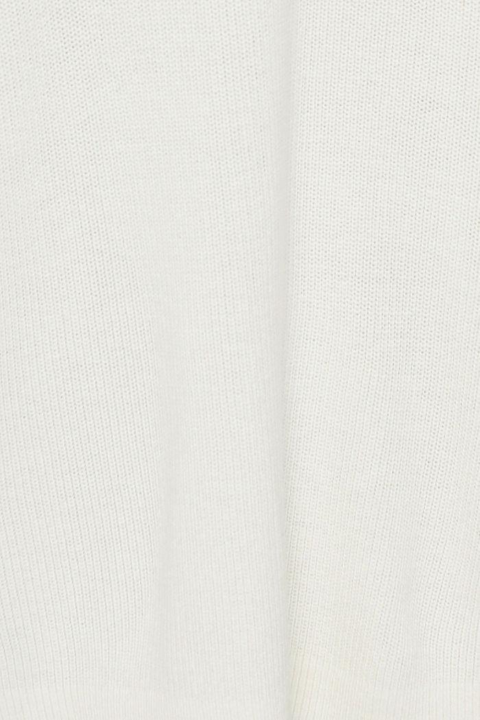 Oversized Rollkragen-Pullover, Bio-Baumwoll-Mix, OFF WHITE, detail image number 4