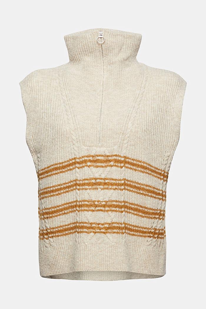 À teneur en laine et alpaga: le pull camionneur sans manches