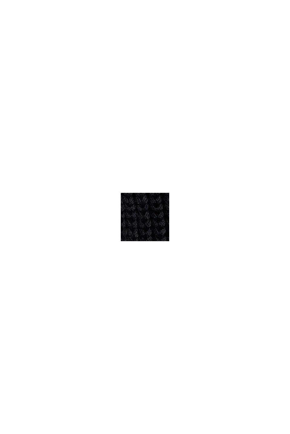 Musterstrick-Pullover aus Organic Cotton, BLACK, swatch