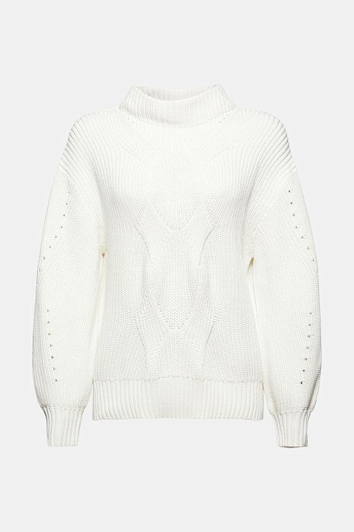 Musterstrick-Pullover aus Organic Cotton