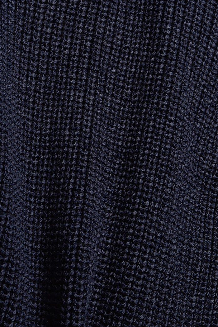 Musterstrick-Pullover aus Organic Cotton, NAVY, detail image number 4