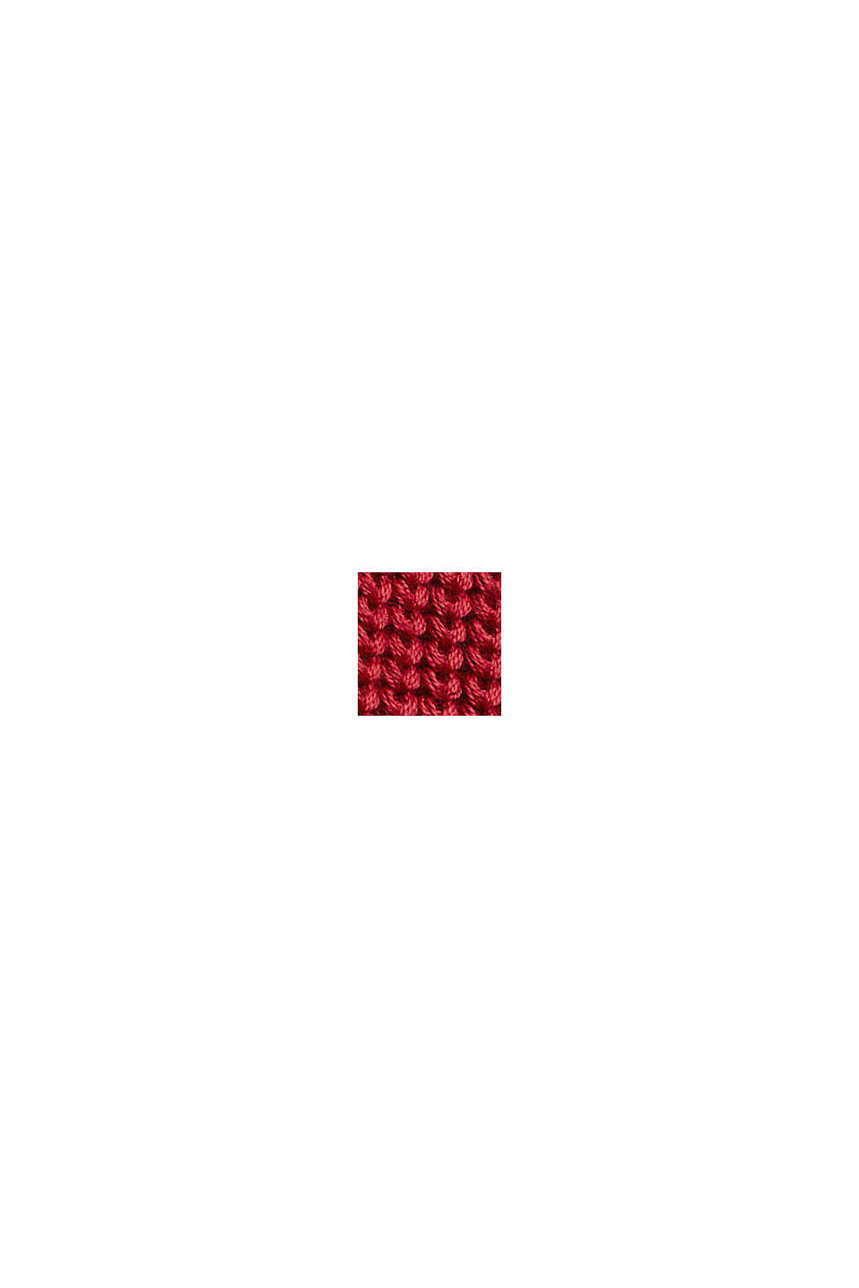 Musterstrick-Pullover aus Organic Cotton, DARK RED, swatch