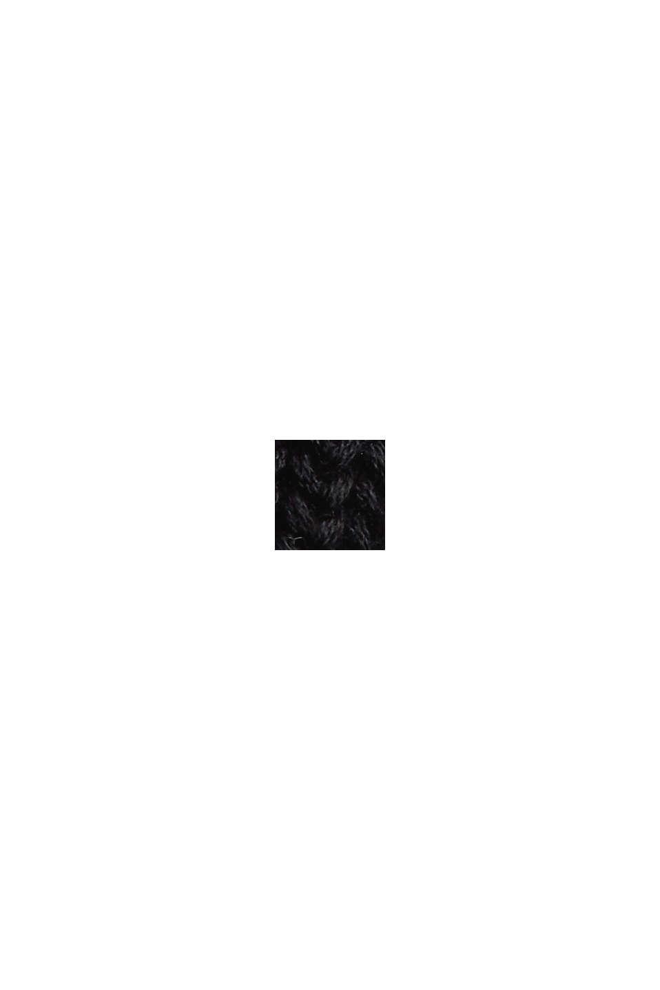 Tröja i ekobomull med ståkrage, BLACK, swatch
