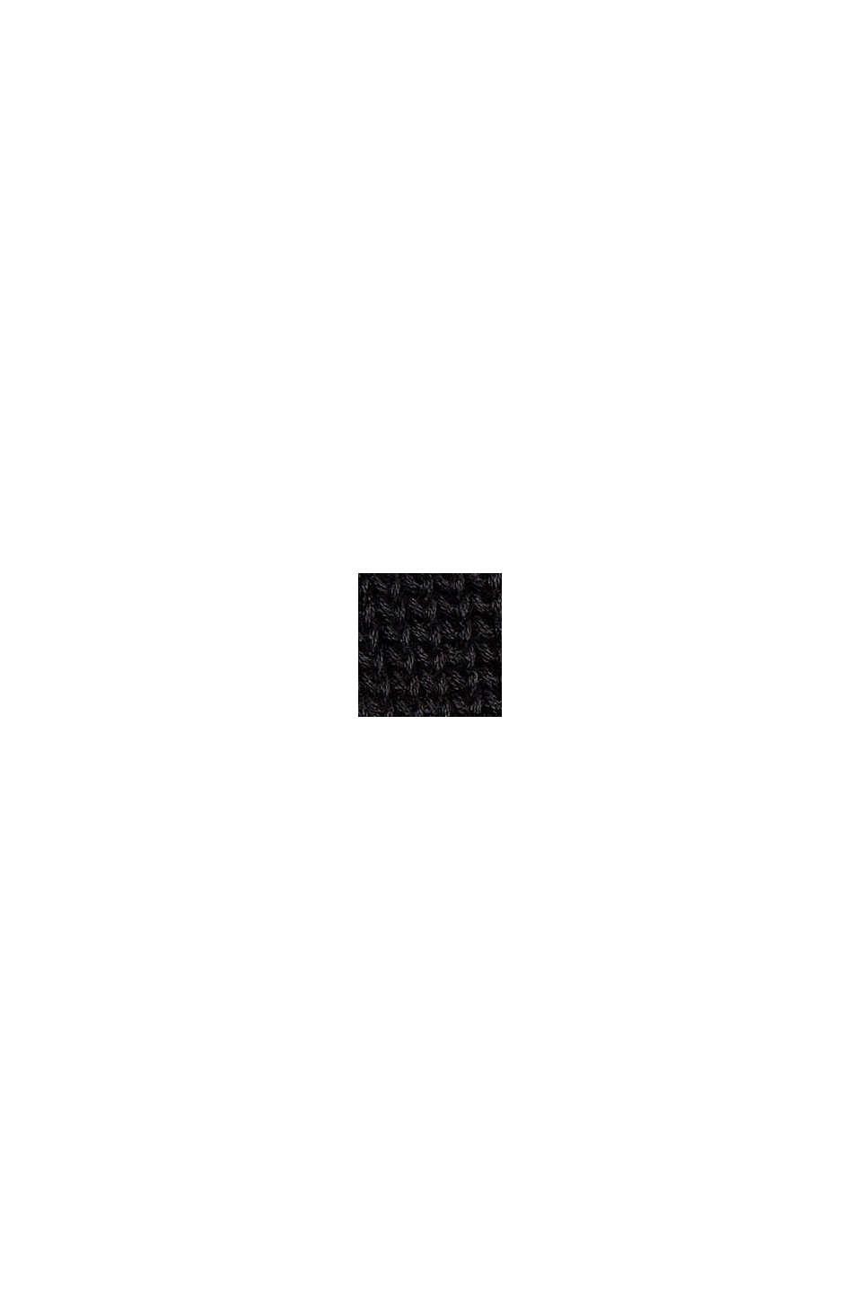 Cardigan mit Bindebändern, Organic Cotton, BLACK, swatch