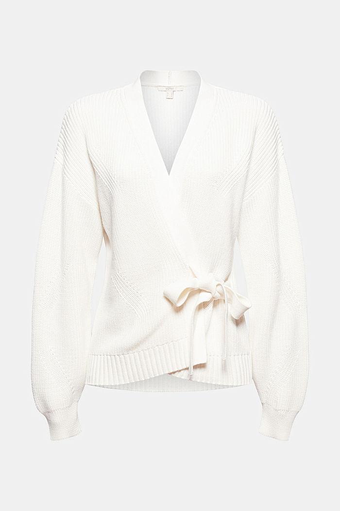 Cardigan mit Bindebändern, Organic Cotton