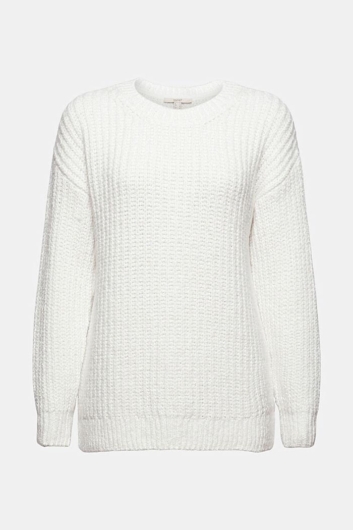 Rippstrick-Pullover aus Bio-Baumwoll-Mix
