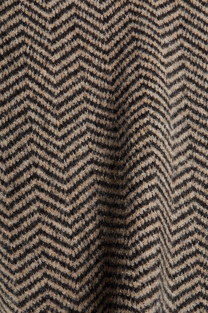 Con lana: cárdigan con diseño de espiga, BLACK, detail image number 4