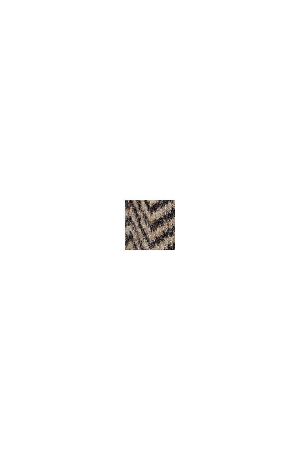 Met wol: vest met visgraatmotief, BLACK, swatch