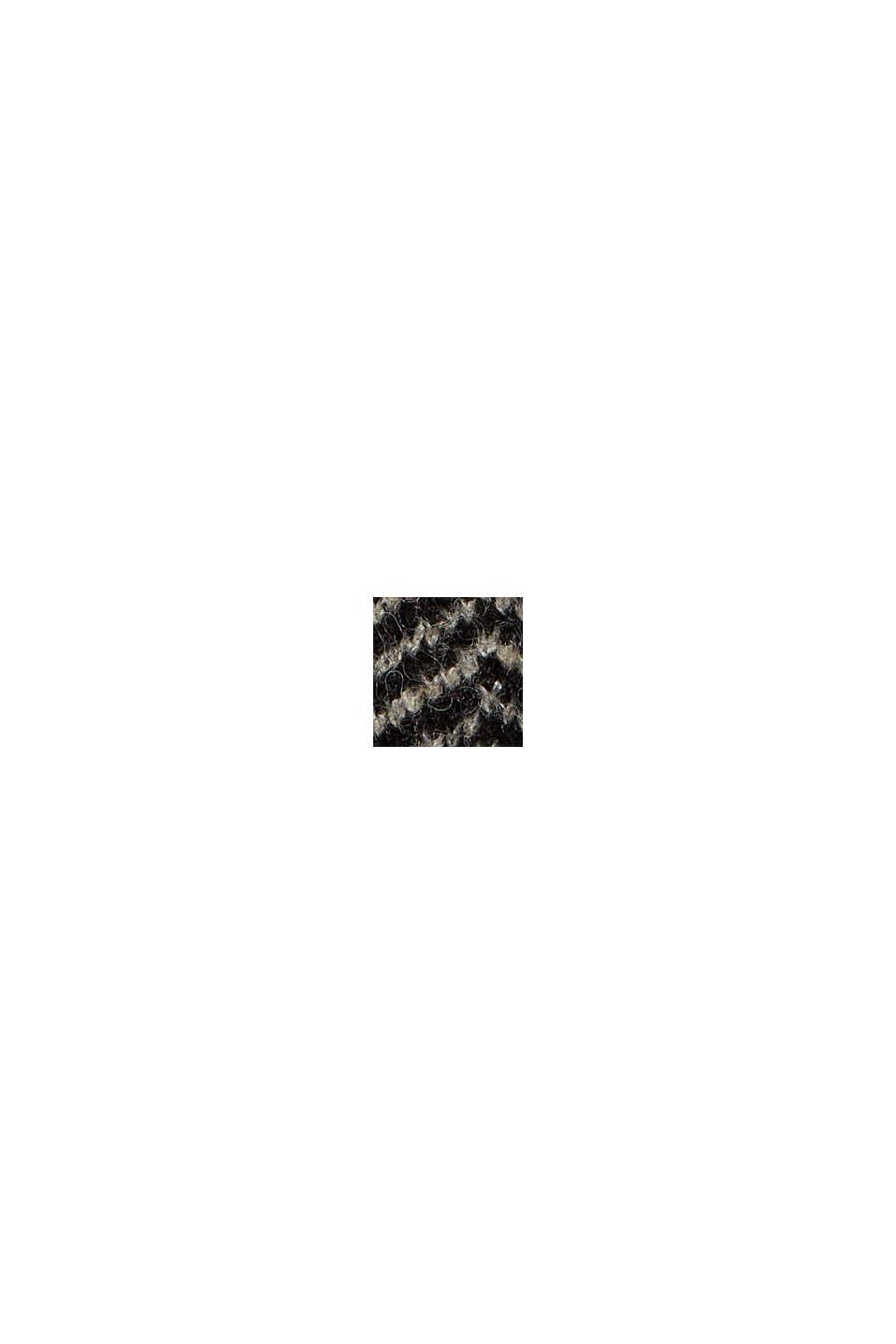 Mit Wolle: Heringbone-Pullover, BLACK, swatch