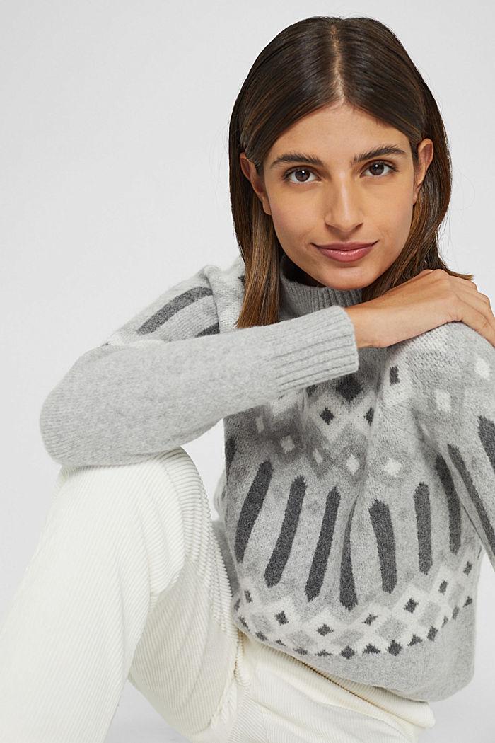 À teneur en laine : le pull-over à motif jacquard