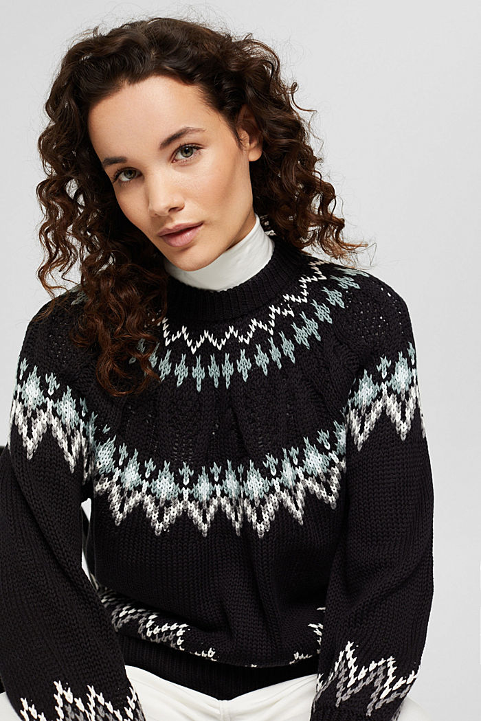 Norweger-Pullover aus Bio-Baumwolle