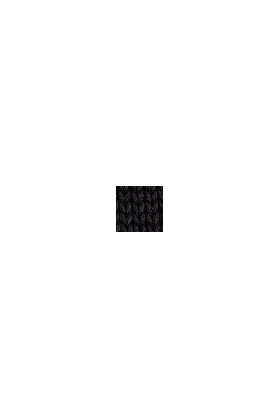 Norweger-Pullover aus Bio-Baumwolle, BLACK, swatch