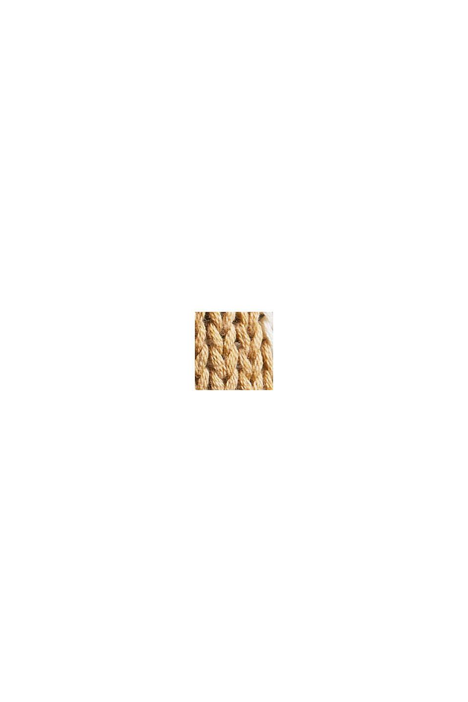 Norweger-Pullover aus Bio-Baumwolle, KHAKI BEIGE, swatch
