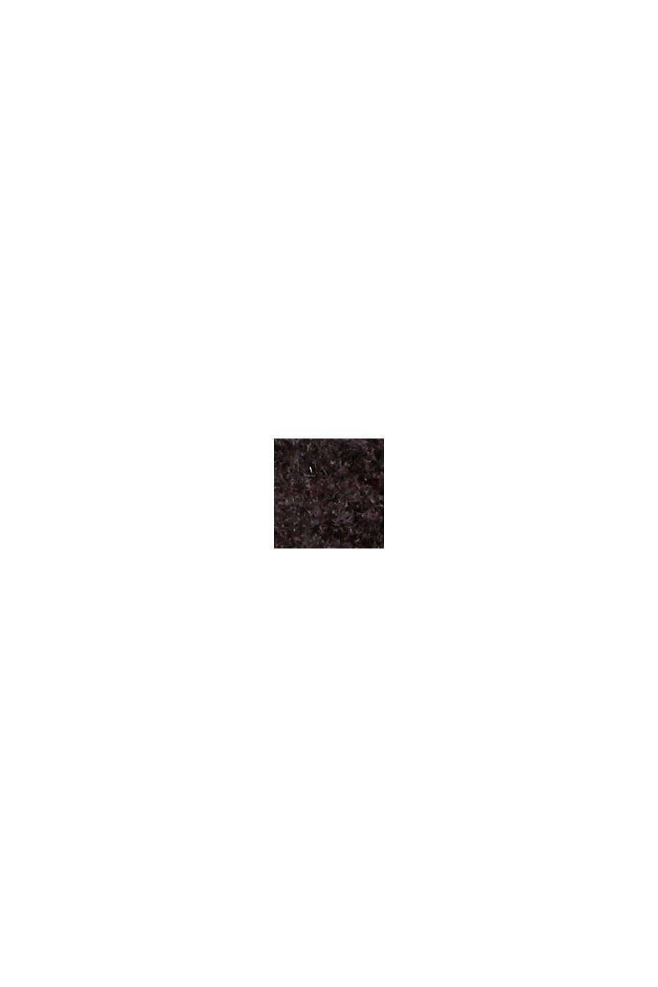 Mit Wolle: Raglan-Pullover mit Stehkragen, BLACK, swatch