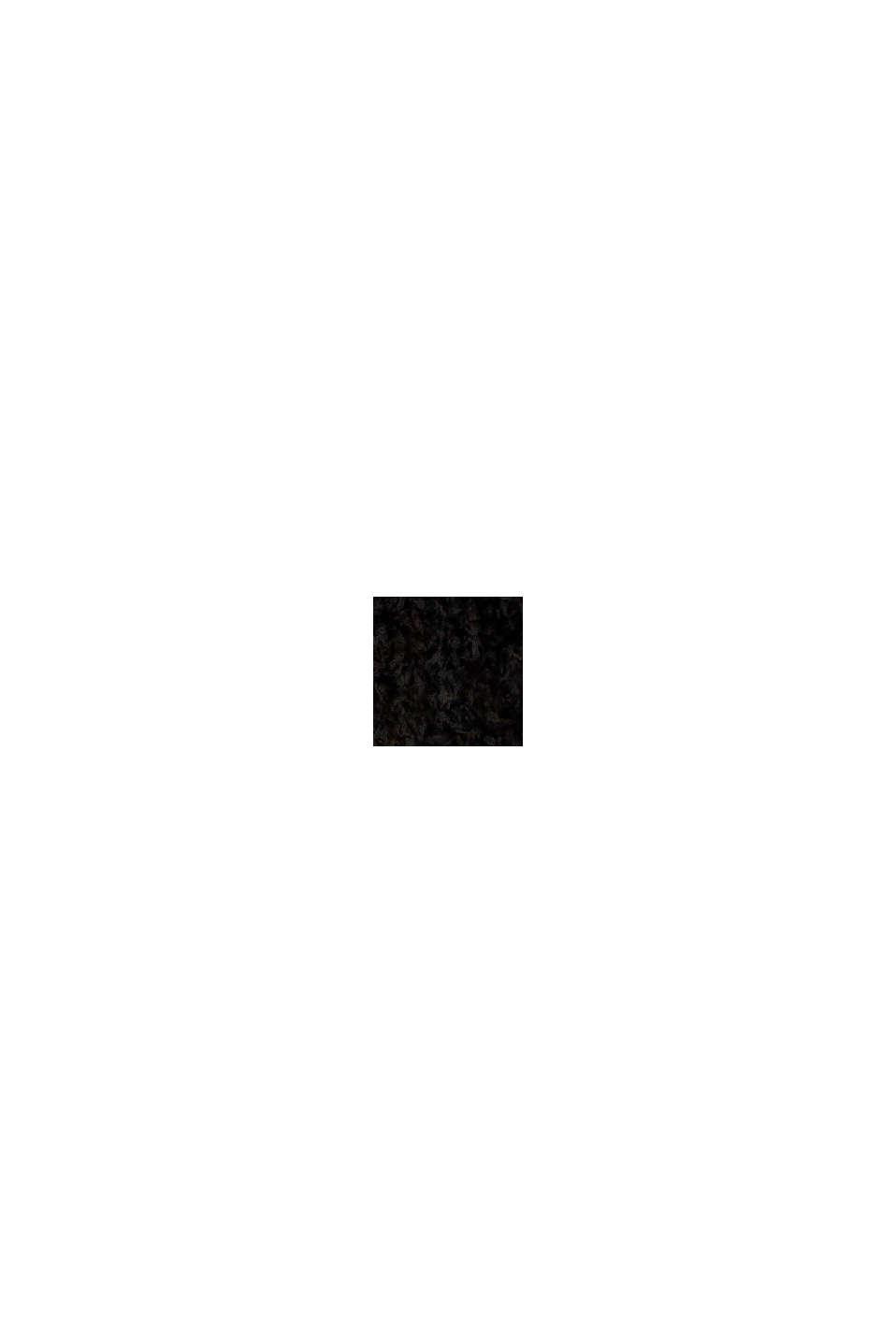 Mit Wolle: softer Rundhals-Pullover mit Melange, BLACK, swatch