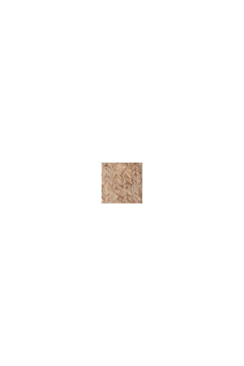 Mit Wolle: softer Rundhals-Pullover mit Melange, SAND, swatch