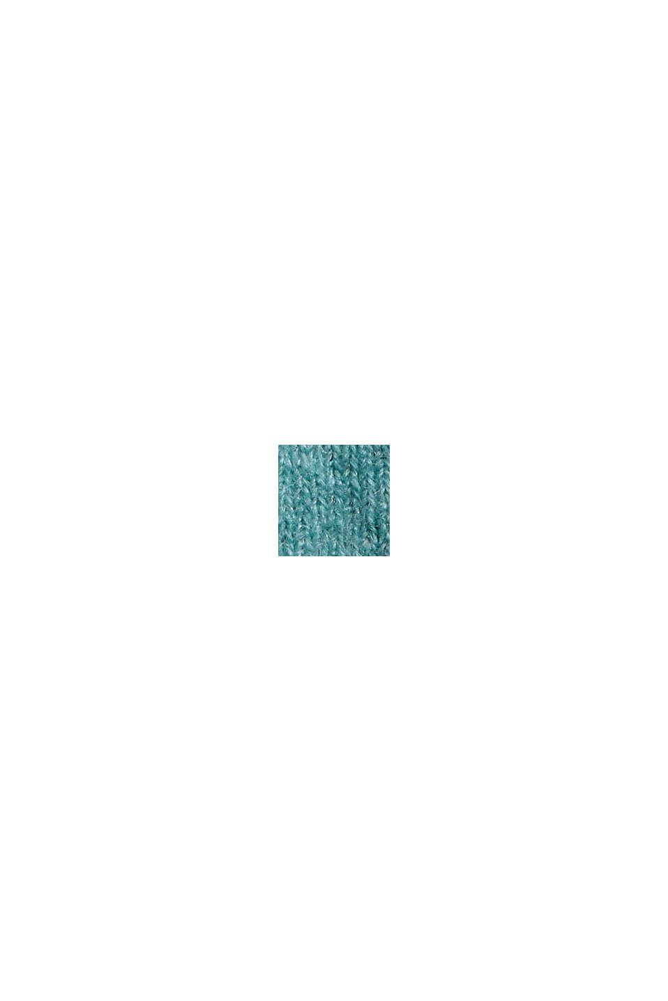 Mit Wolle: softer Rundhals-Pullover mit Melange, TURQUOISE, swatch