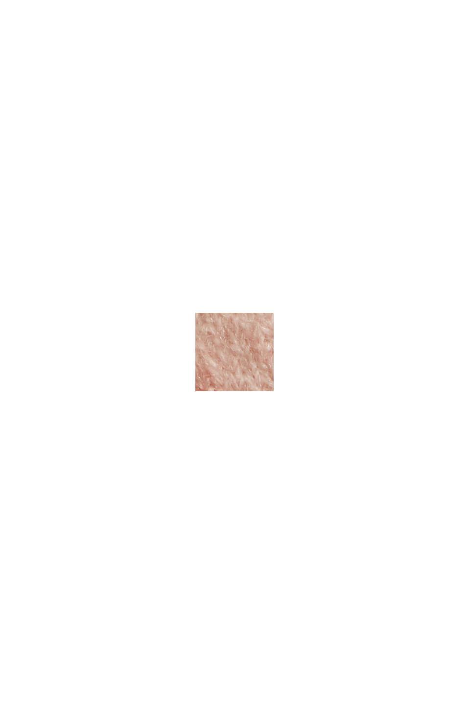 À teneur en laine : le doux pull-over à encolure ronde et effet chiné, PASTEL PINK 5, swatch