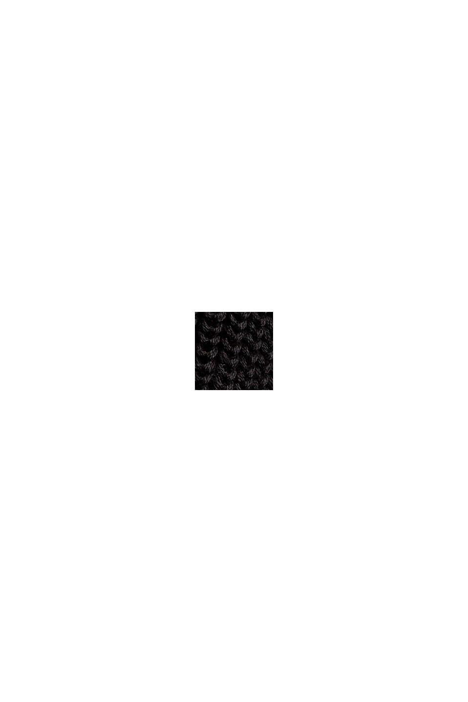 Mit Wolle: Pullover mit Ballonärmeln, BLACK, swatch