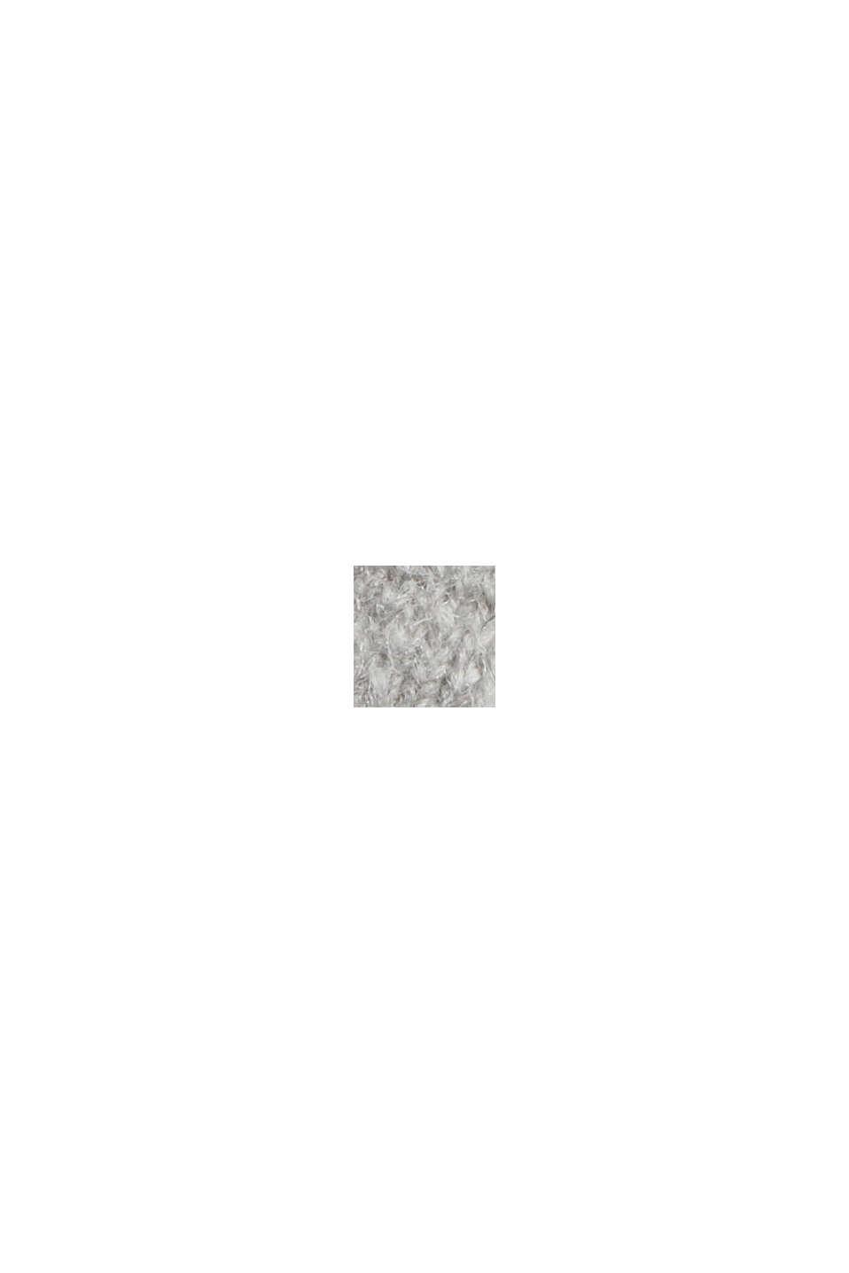 Mit Wolle: Pullover mit Ballonärmeln, LIGHT GREY, swatch