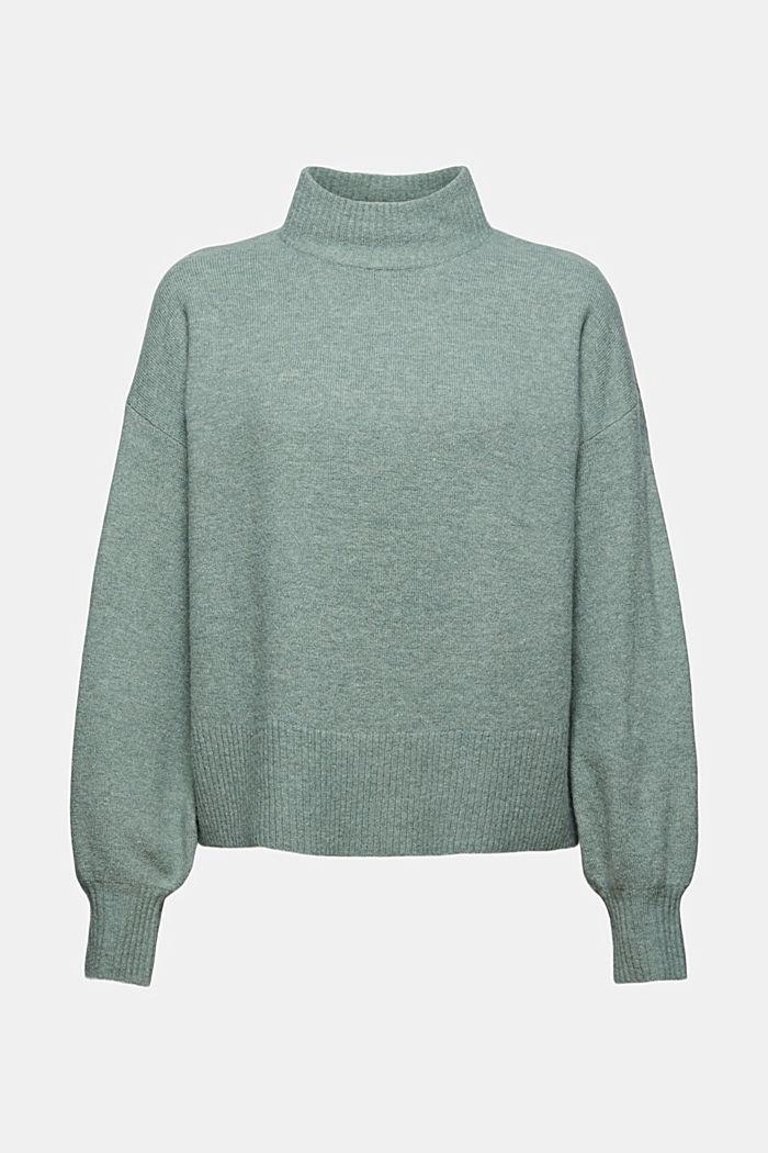 Mit Wolle: Pullover mit Ballonärmeln