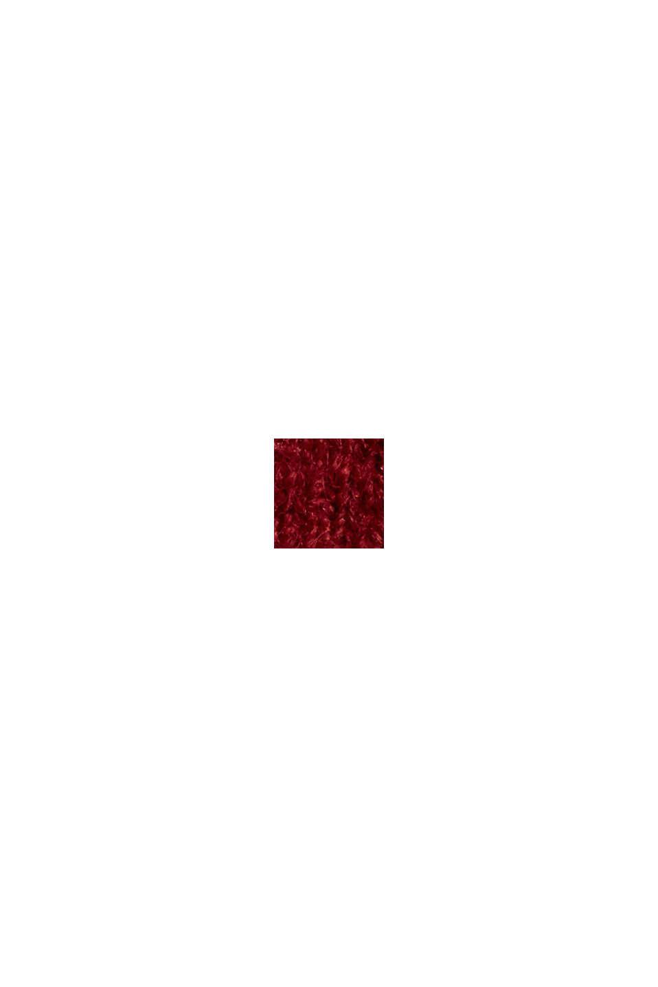 Mit Wolle: Pullover mit Ballonärmeln, DARK RED, swatch