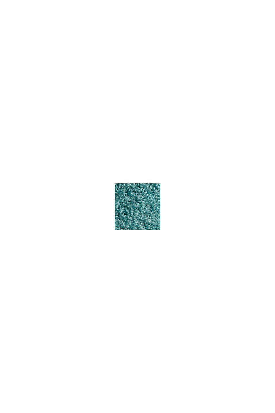 Wool blend: Jumper with a stand-up collar, TURQUOISE, swatch