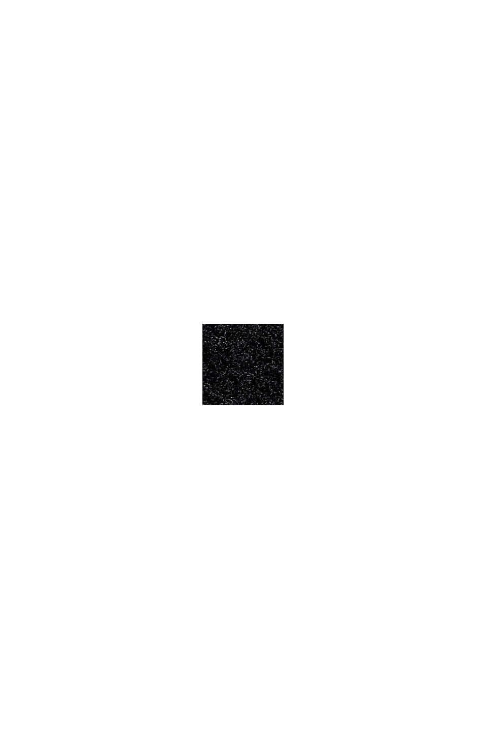 Mit Wolle: Pullover mit Struktur, BLACK, swatch