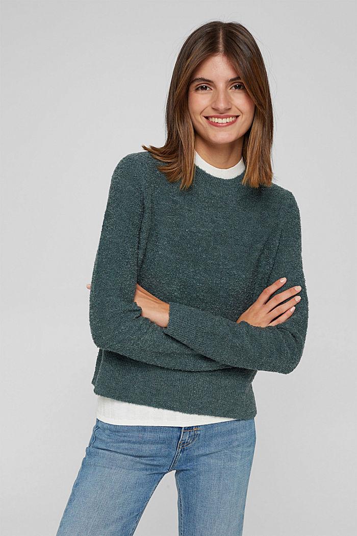 Mit Wolle: Pullover mit Struktur