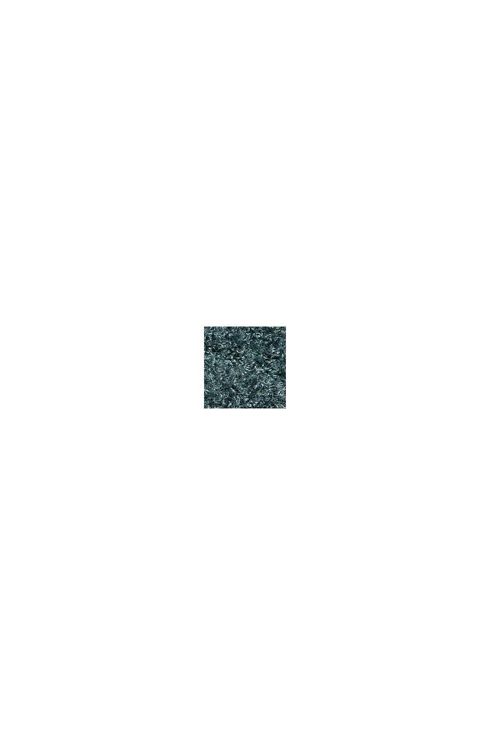 Mit Wolle: Pullover mit Struktur, TEAL BLUE, swatch