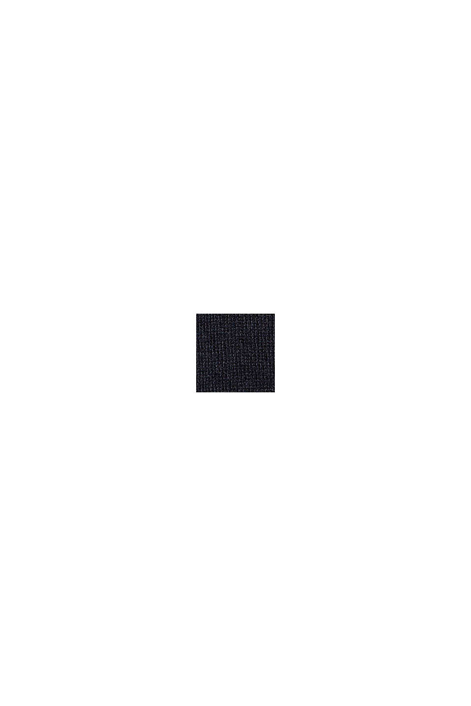 Pull-over en coton bio mélangé, BLACK, swatch