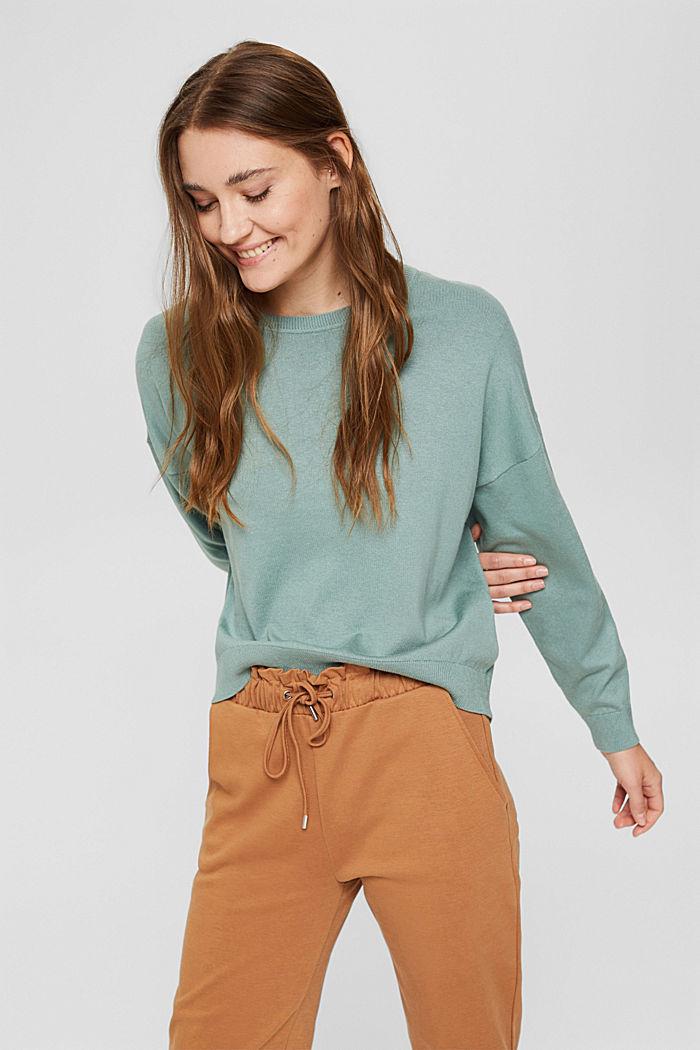 Ringelstreifen-Pullover aus Bio-Baumwoll-Mix