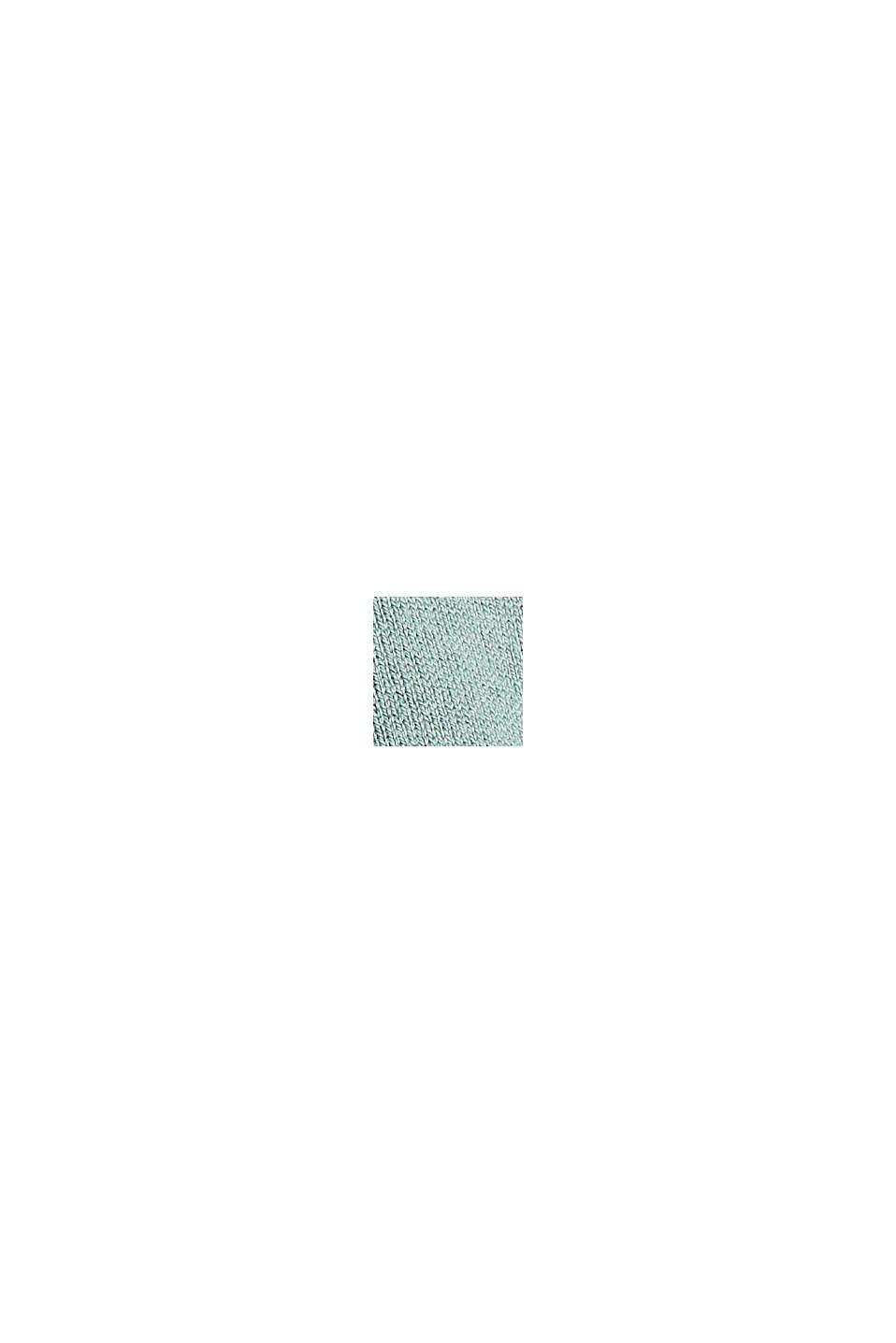 Ringelstreifen-Pullover aus Bio-Baumwoll-Mix, DUSTY GREEN, swatch