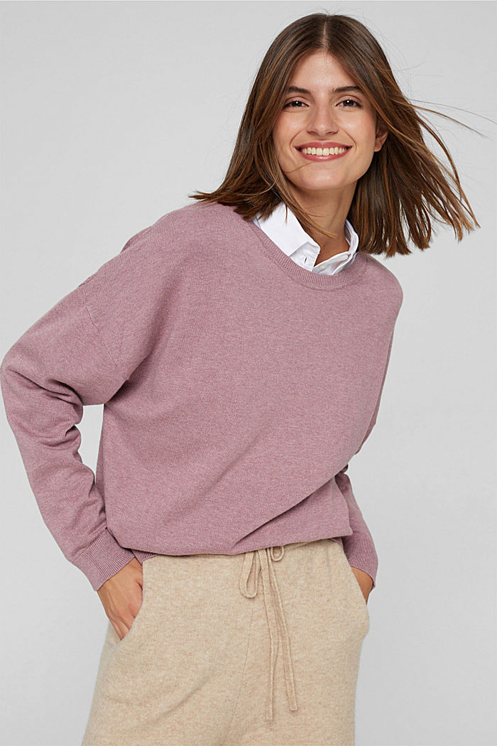 Sweaters, MAUVE, detail image number 5