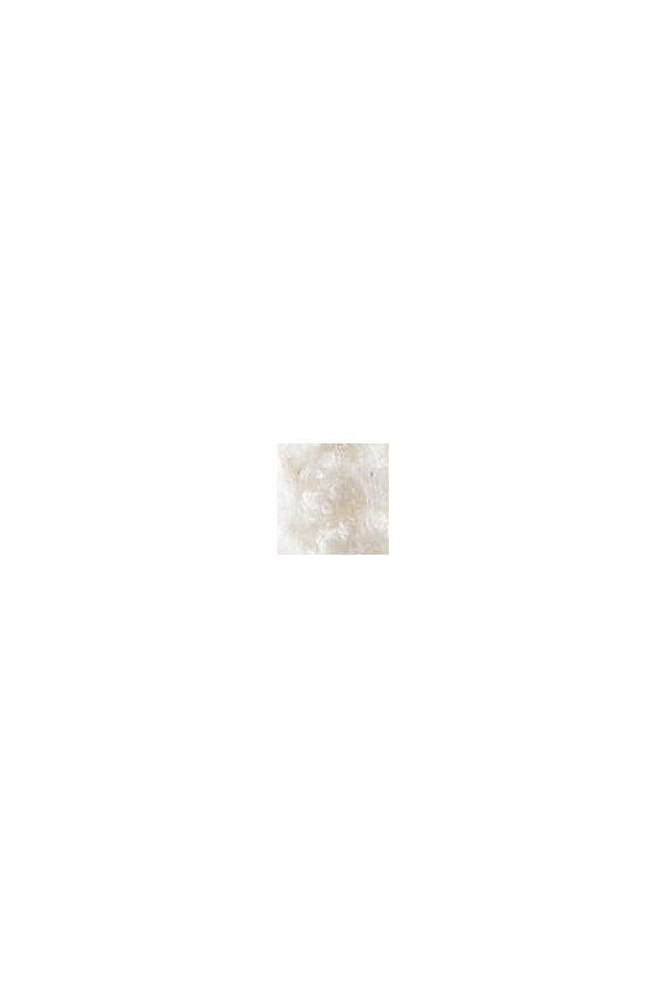 Dik vest van een mix van biologisch katoen, OFF WHITE, swatch