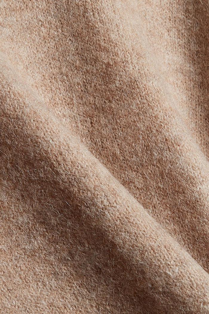 Sweaters cardigan, KHAKI BEIGE, detail image number 1