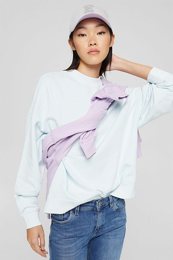 Sweatshirts, LIGHT TURQUOISE, detail image number 0