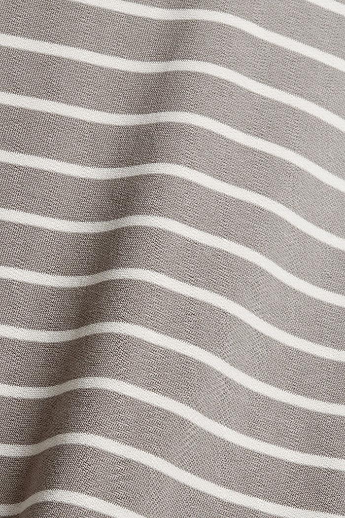 Geringeltes Sweatshirt aus Bio-Baumwolle, GUNMETAL, detail image number 4