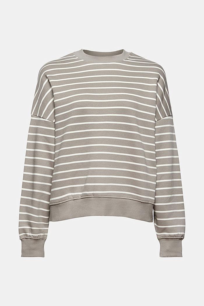 Geringeltes Sweatshirt aus Bio-Baumwolle, GUNMETAL, detail image number 6