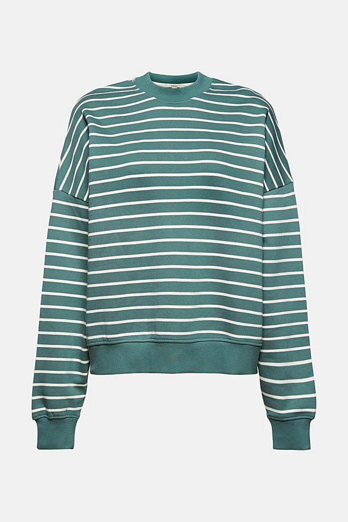 Gestreept sweatshirt van biologisch katoen