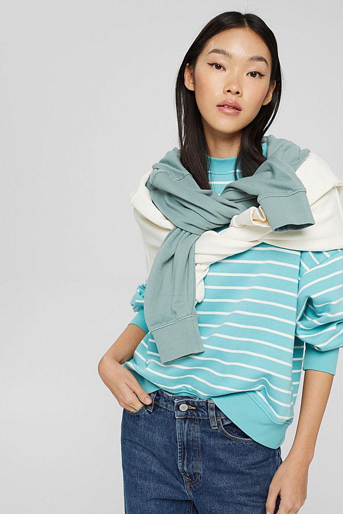 Sweatshirts, TURQUOISE, detail image number 0