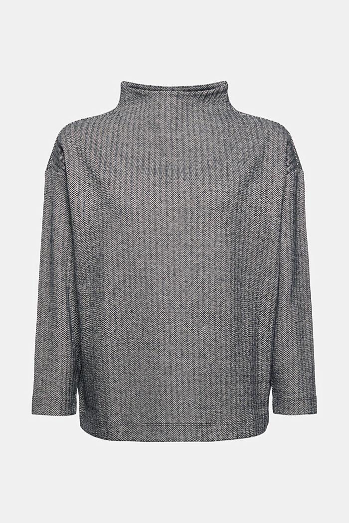 Sweatshirt mit Fischgrätmuster