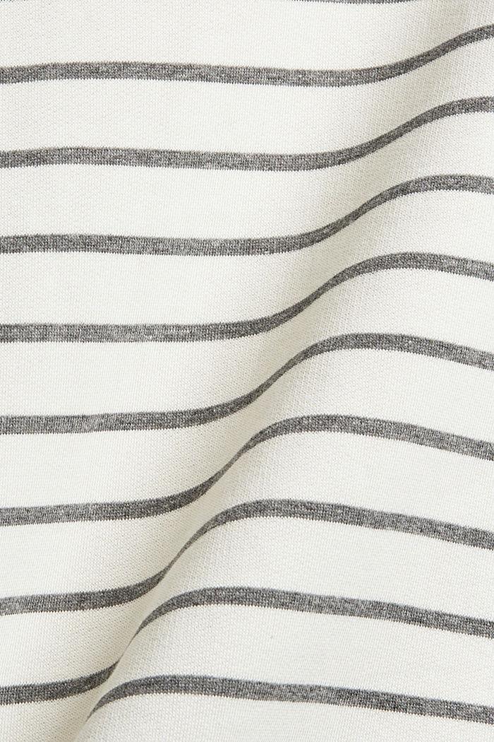 Sweat-shirt rayé en coton biologique mélangé, OFF WHITE, detail image number 4