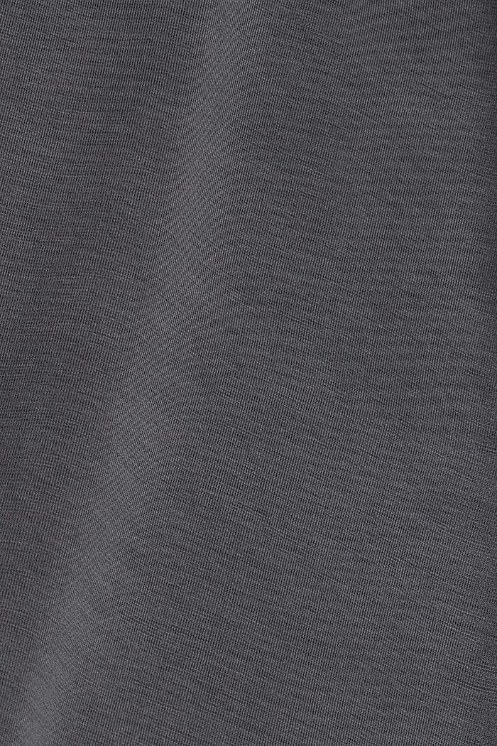Sweat à capuche en molleton compact à teneur en TENCEL™, ANTHRACITE, detail image number 4