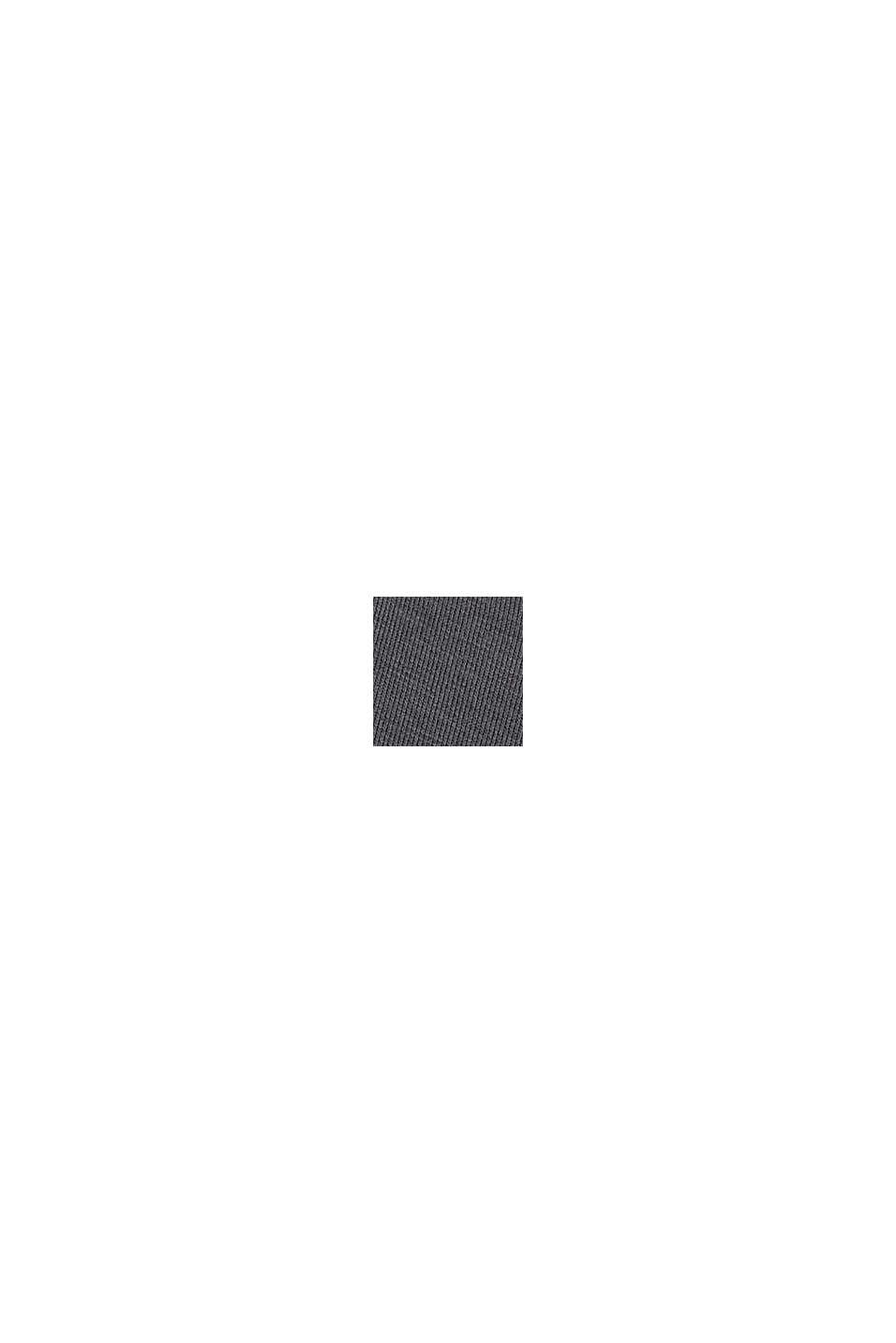 Hættetrøje af kompakt sweatstof med TENCEL™, ANTHRACITE, swatch