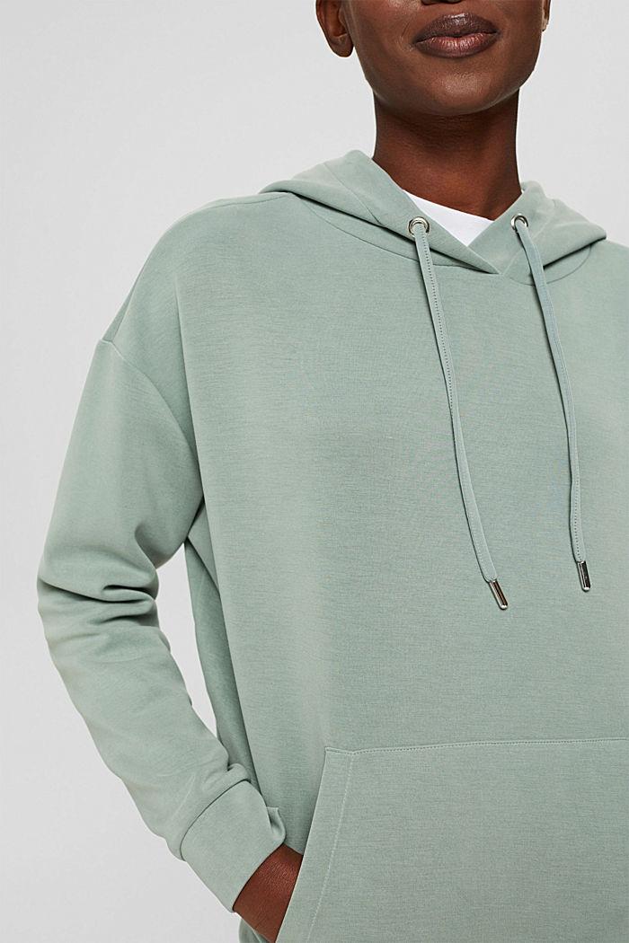 Sweat à capuche en molleton compact à teneur en TENCEL™, DUSTY GREEN, detail image number 2